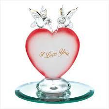 swm 12523 hummingbird heart glass figurine