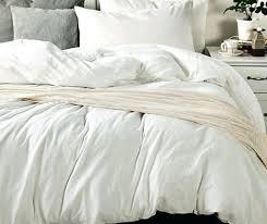 white bedding made from medium weight linen pure uk duvet cover