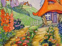 Идеи на тему «Cottage <b>Flower Garden</b>» (500+) | иллюстрации ...