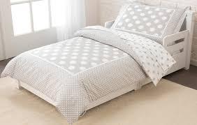 stars polka dots toddler bedding gray by kidkraft