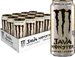 Rockstar Roasted Coffee Energy Light Vanilla Java Monster Vanilla Light Coffee Energy Drink 15 Ounce Pack Of 12