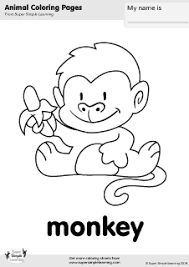 Small Picture Free monkey coloring page from Super Simple Learning Tons of free