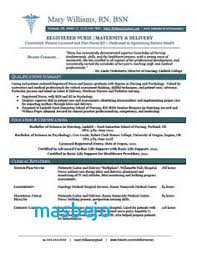 Nursing Resume Examples With Clinical Experience Nurse Cover Letter