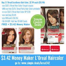 Buy 2 for $16 or pay $8.99 each. Huge Money Maker On L Oreal Excellence Hair Color Free At Target Simple Coupon Deals