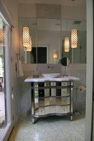 hanging bathroom lighting. Hanging Bathroom Vanity Contemporary With Ceiling Lighting Cosmetics Mirror. Image By: Amy Newman Lauffer CID LEED AP I
