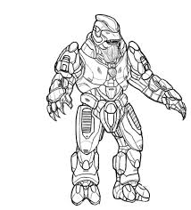 Small Picture Free Printable Halo Coloring Pages For Kids
