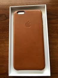 apple leather case for iphone 6s plus brown new