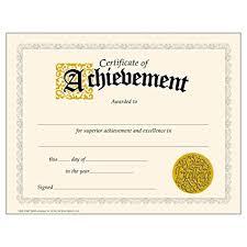 Free Online Printable Certificates Of Achievement Amazon Com Trend Enterprises Inc Certificate Of Achievement