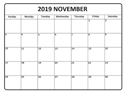 November 2019 Calendar Printable Create Your Calendar For