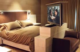 Motorized Electronics  Ways To Show Off Your Home Tech - Bedroom tv lift cabinet