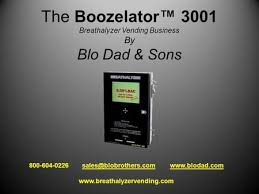 Breathalyzer Vending Machine Business Plan Beauteous The Boozelator™ 48 Breathalyzer Vending Business By Blo Dad Sons