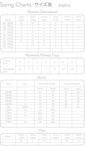 Xs Size Chart Yumiko Size Charts Yumiko Dancewear