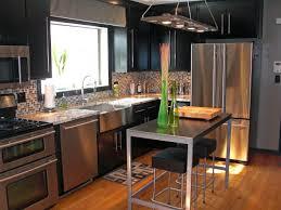 Modern Industrial Kitchen With Black Cabinets Hgtv