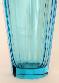 this is a great quality european art deco cut glass vase very much in the manner of moser it is a very simple but stylish piece of glass the quality of