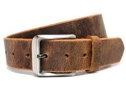 nickel smart roan mountain distressed leather belt