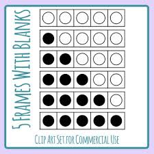Math Templates Five Frame Math Templates With Blanks Art Set Commercial Us By