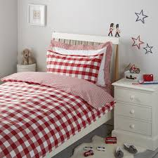 Postbox Red Gingham Bed Linen | Children's Bed Linen | The White ... & view full size image Adamdwight.com