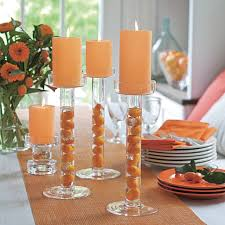 Image of: Candle Holders on Dining Table