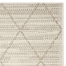 faux natural grace diamond indoor outdoor rug antique white