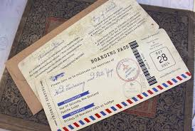 vintage air mail boarding pass wedding invitation (new zealand When To Mail Destination Wedding Invitations air mail wedding invitation when to mail out destination wedding invitations