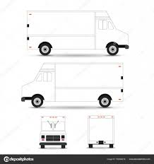 Food Truck Wrap Design Template Food Truck Vector Template Outline Stroke Isolated On White