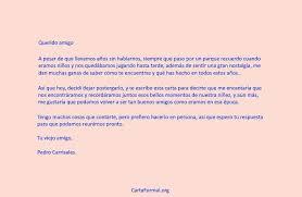 Como Hacer Una Carta Personal Carta Formal Para Un Amigo Ejemplo Como Se Hace Corta