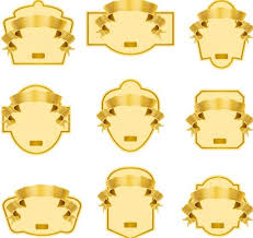 Label Design Templates Free Golden Blank Badge Label Design Templates 01 Titanui