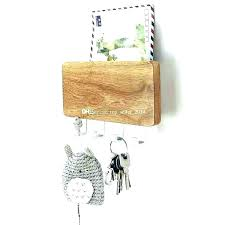mail key holder wood wall mounted mail organizer letter organizer for wall mail key holder wall