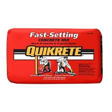 quikrete 50 lb fast setting concrete
