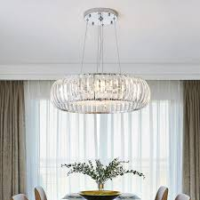 modern re crystal led chandeliers lighting dining room chrome metal led pendant chandelier lights foyer hanging lamp fixture outdoor chandelier lighting