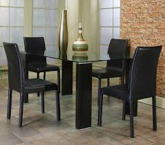 Modern Kitchen Table Lighting Glass Kitchen Tables Rectangle Glass Dining Table Top With Black
