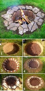 unique designs inground brick and stone firepit throughout fire pit designs