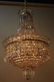 1930s spanish empire style crystal chandelier in good condition for in fairfax va