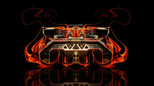 lamborghini veneno back fire abstract car