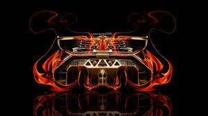 lamborghini veneno back fire abstract car