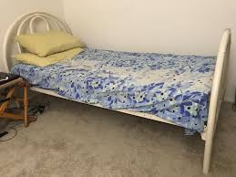 Move Out Sale Ikea White Twin Size Bed Frame And Mattress For Sale