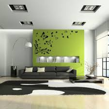 Living Room  Attractive Tree Wall Decal Living Room With Black - Painted living rooms