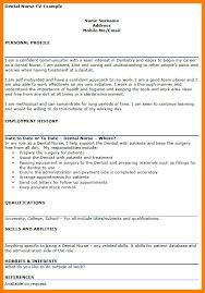 dental nurse cv example 8 cv template dentist theorynpractice