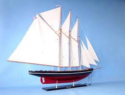 wooden atlantic model sailboat decoration 50