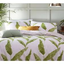banana leaves fresh green bed linen set