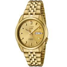 amazon com seiko men s snk366k seiko 5 automatic gold dial gold amazon com seiko men s snk366k seiko 5 automatic gold dial gold tone stainless steel watch seiko watches