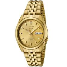 seiko men s snk366k gold stainless steel automatic watch gold seiko men s snk366k gold stainless steel automatic watch gold dial seiko amazon co uk watches
