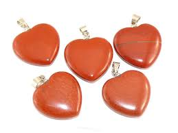 red jasper heart pendant jewelery bail