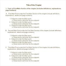 Example Of Book Report Outline Template Basic Simple Worksheet ...