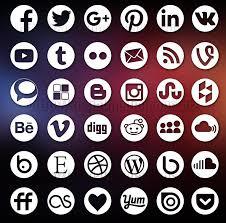 round social media icon.  Round 36 Round Social Media Icons Throughout Icon I