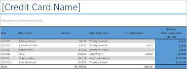 Credit Card Log Excel Business Insights Group Ag