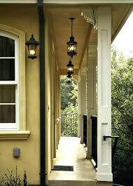 hanging porch lights light over bistro table