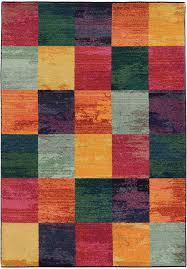 pantone universe multi checd blocks cubes contemporary area rug fl 566c5