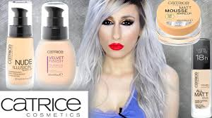 catrice foundations review demo illusion all matt velvet finish matte mousse makeup you