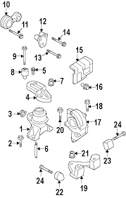 parts com® mercury engine mounts mount trans partnumber 6h6z6038ba 2006 mercury milan premier v6 3 0 liter gas engine trans mounting